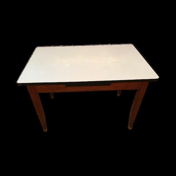 Table formica et bois vintage
