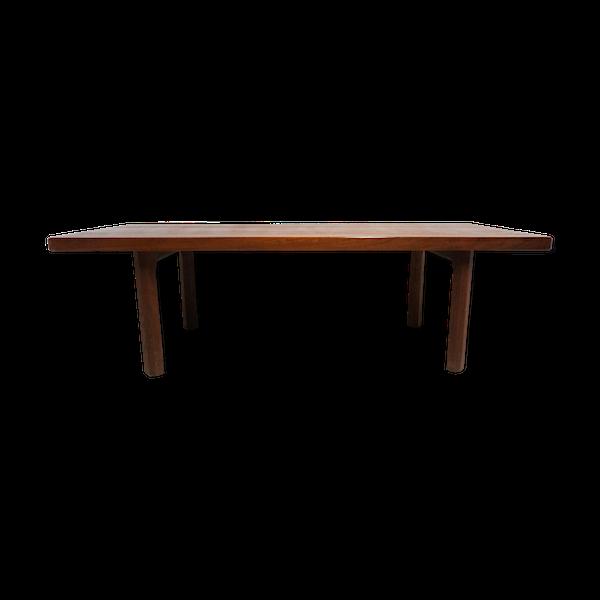 Table basse scandinave en teck massif
