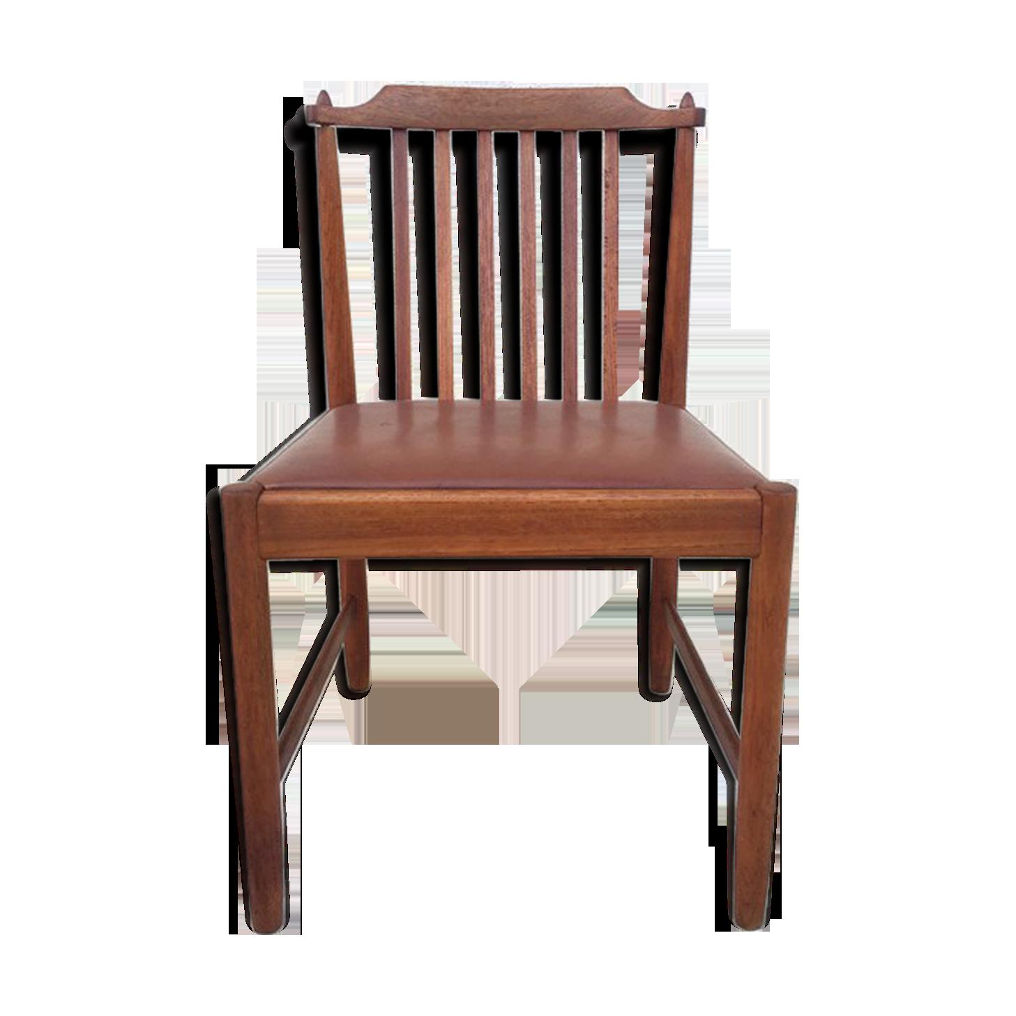 Chaise bureau scandinave vintage u bois matériau marron