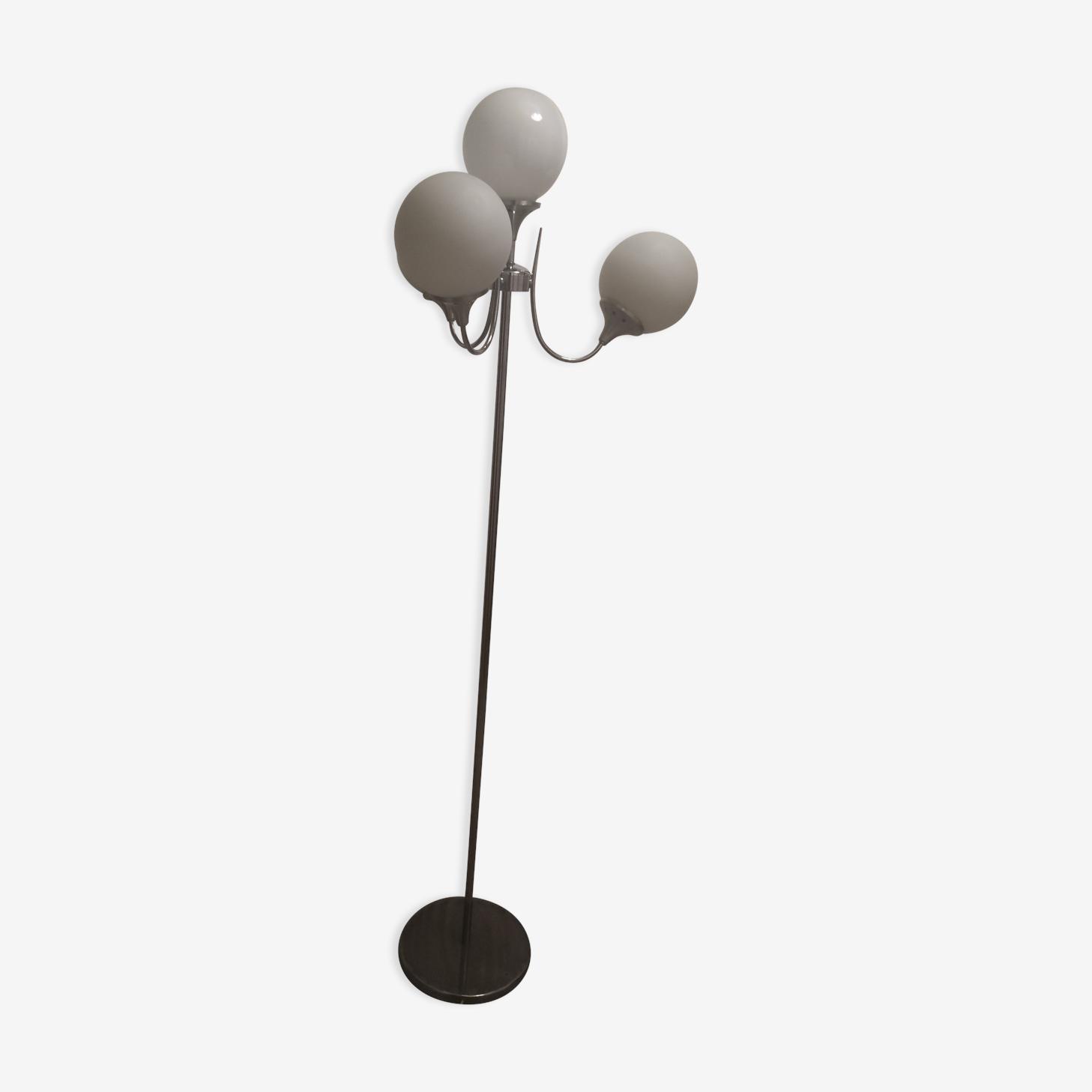 Floor lamp balls in opaline 1960