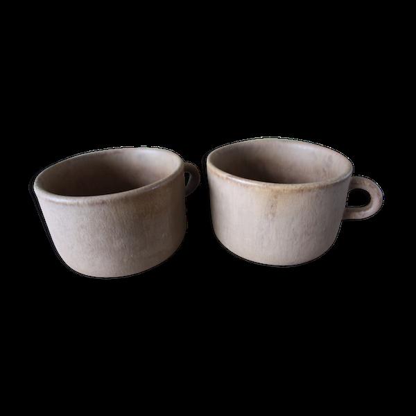 Duo de tasses en grès