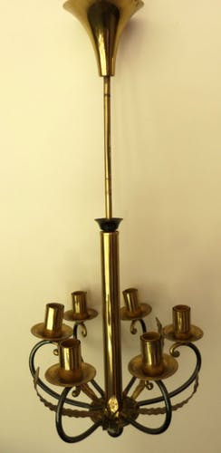 Very nice small chandelier style empire 6 lights