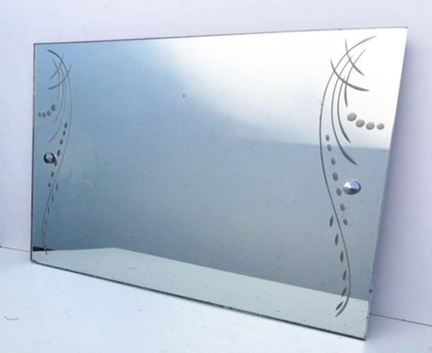 Engraved mirror 42x60 cm