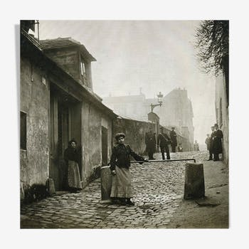 "Photography, ""Montmartre, Alley of the Fog"", Paris, 1902 / NB / 15 x 15 cm"