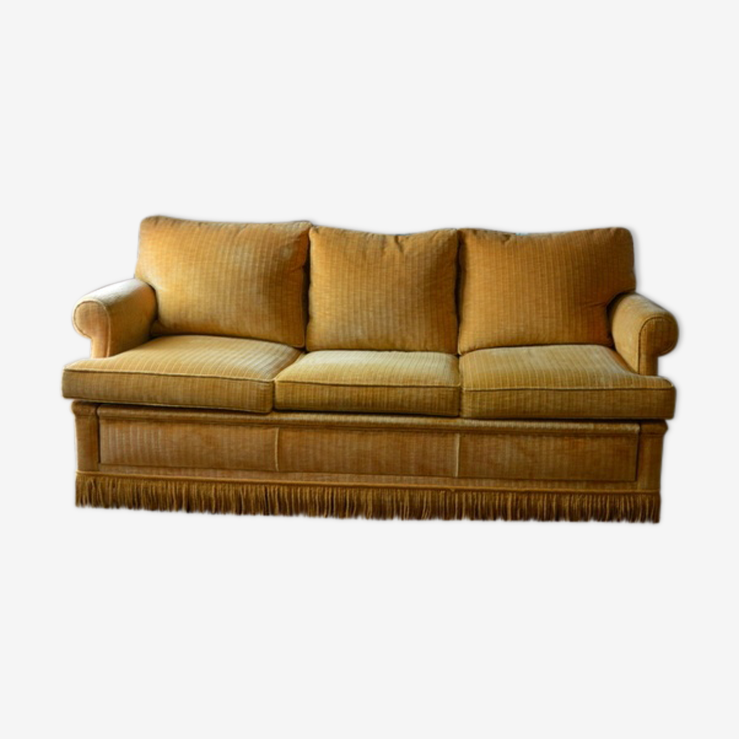 Sofa velvet vintage mustard year 60