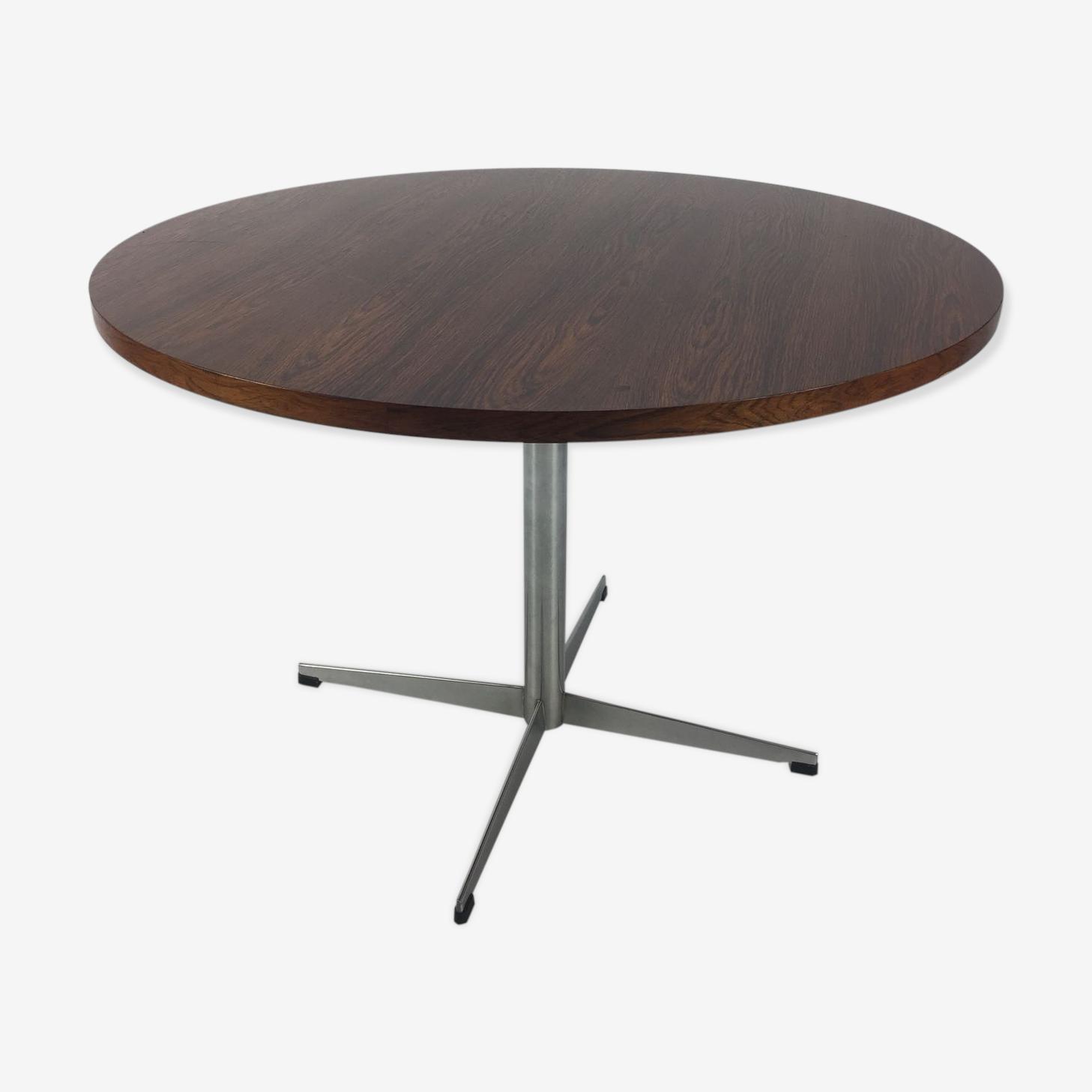 Walnut veneer table, 1960