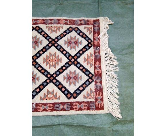 Tapis Beni ouarain Maroc en laine - 152x77cm