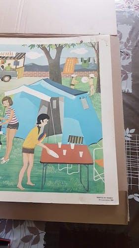 Affiche Fernand Nathan datée de 1966