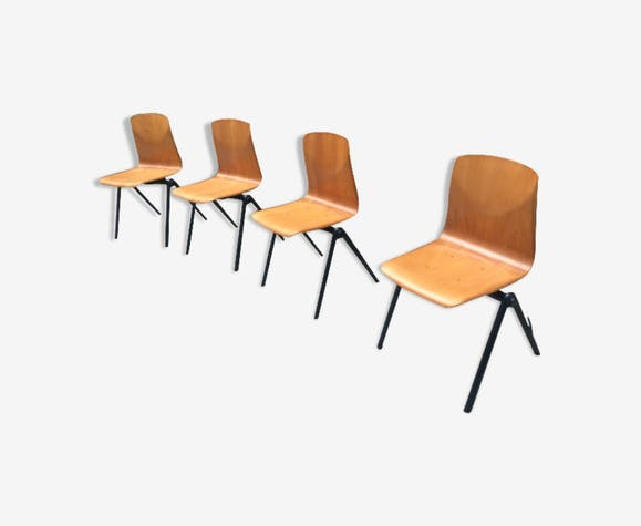 Série de 4 chaises Galvanitas s30
