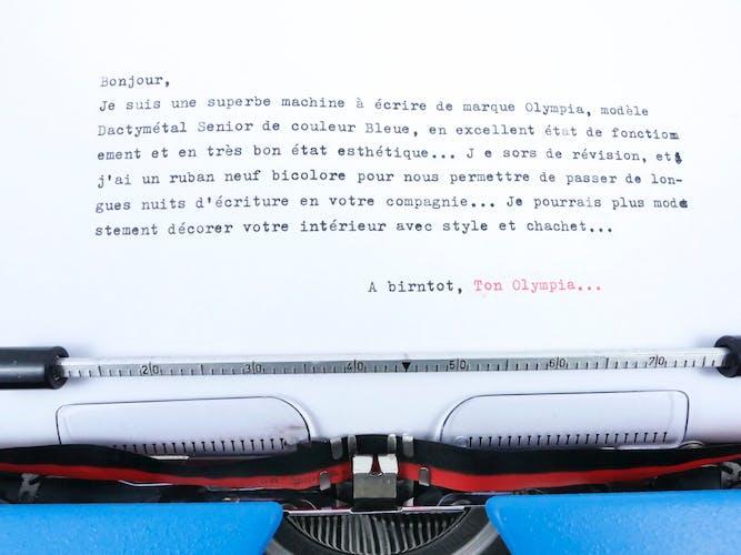 Machine à écrire Olympia Dactymetal