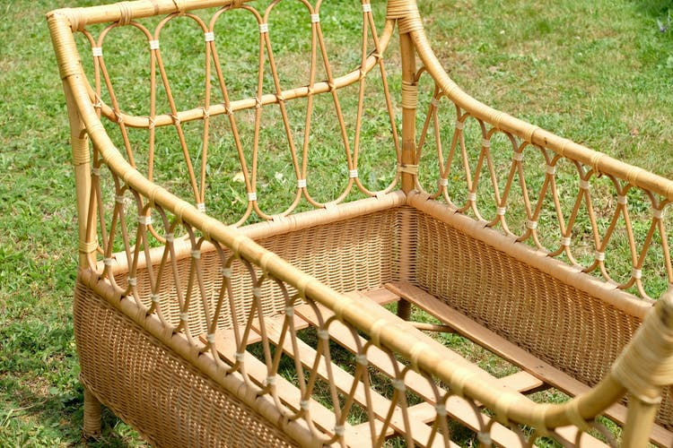 Bamboo bed rattan