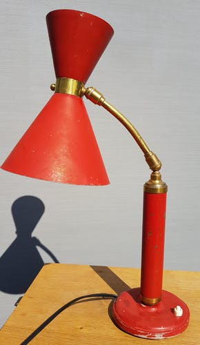 Lamp red diabolo 1950