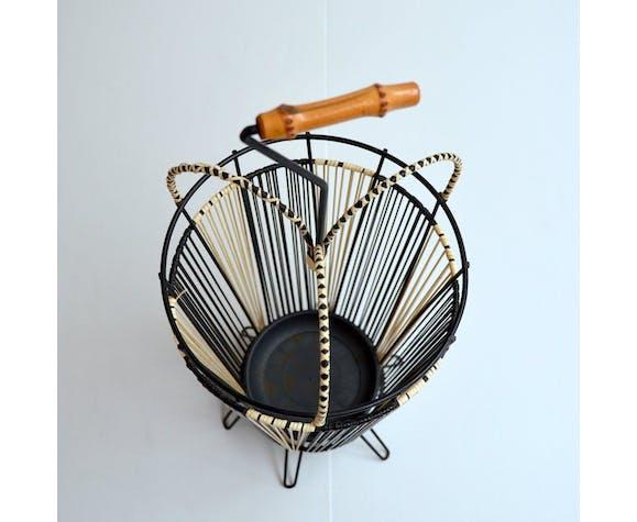 Vintage scoubidou umbrella holder 1950noi