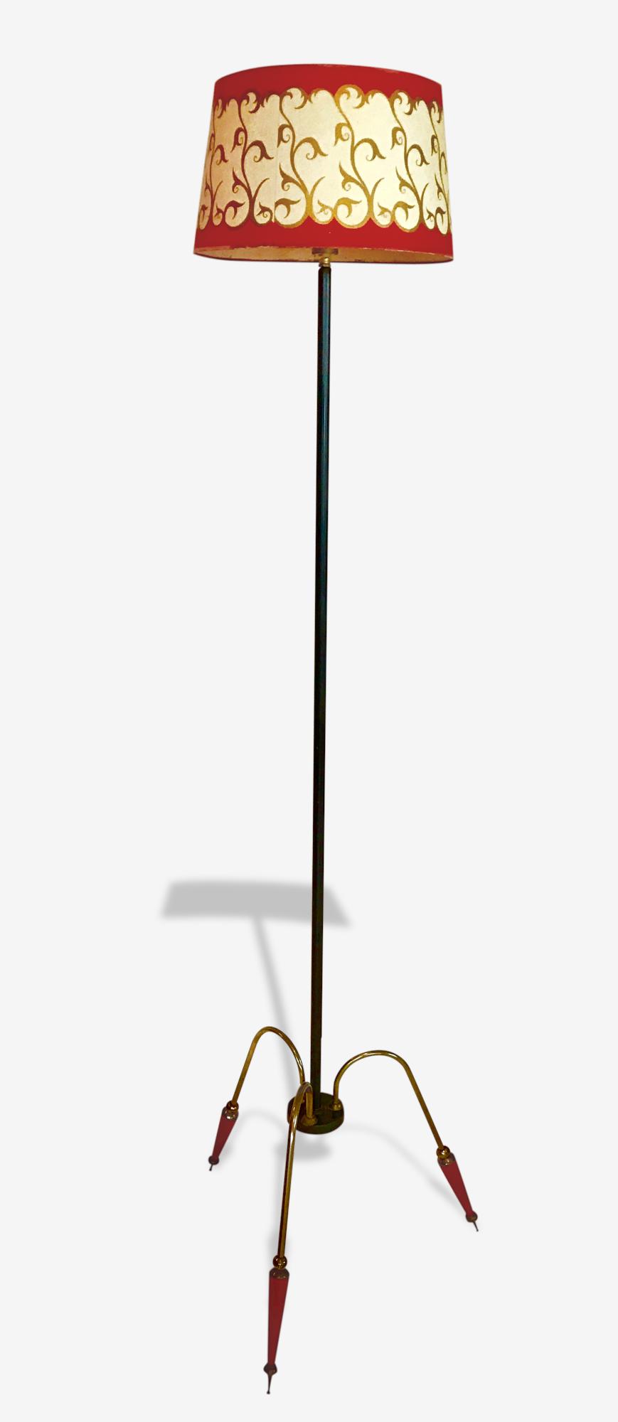 Lampadaire tripode, années 50