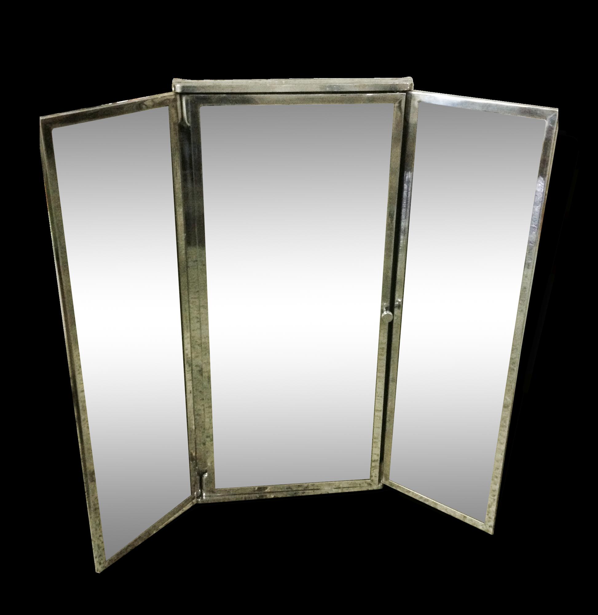 Armoire Triptyque De Salle De Bain Miroir Art Deco Chrome