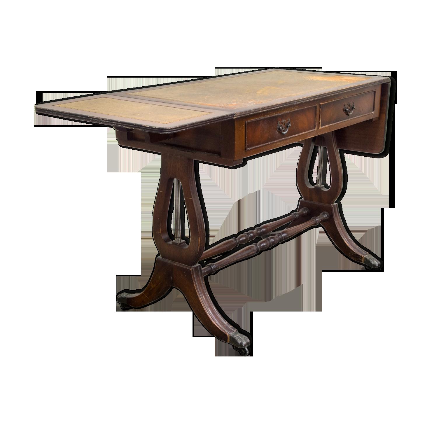 Bureau style anglais en acajou bois matériau bois couleur