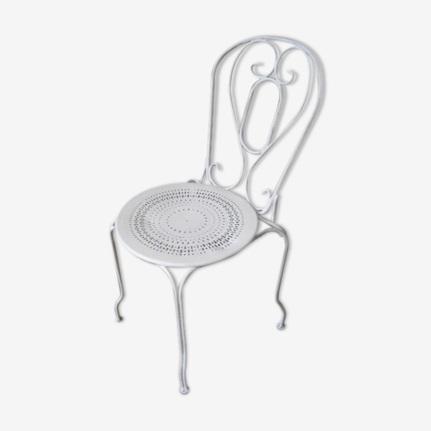 French garden steel chair