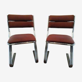 """Paire de chaises vintage """"ZigZag"""""""