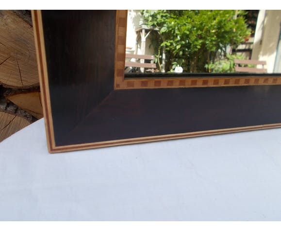 Mirror in marquetry 61x47,5cm