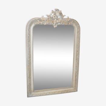 Grey patinated mirror 75x118cm