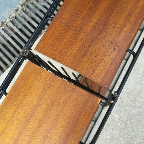 Étagères modulables métal teck