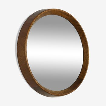 Oak wood mirror, 45cm, made in Germany