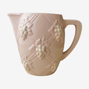 Pichet en faïence Digoin Sarreguemines 1.2 litre