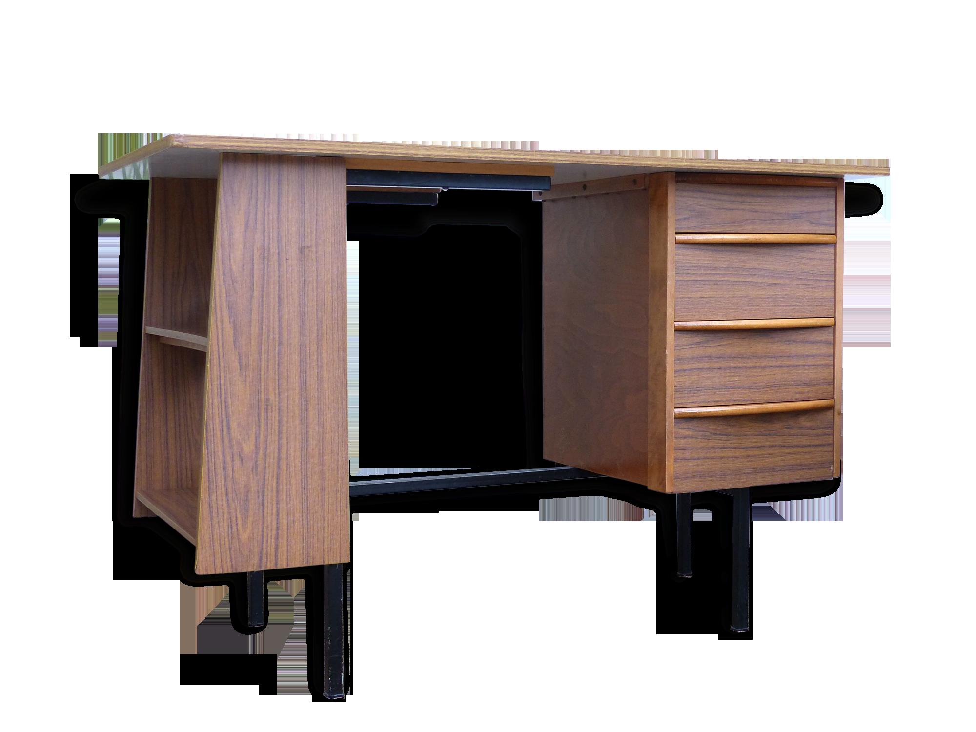 Bureau vintage moderniste en formica métal formica vintage