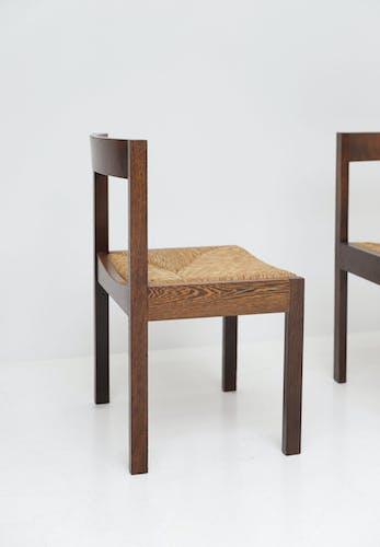 Chaises en wengé Martin Visser