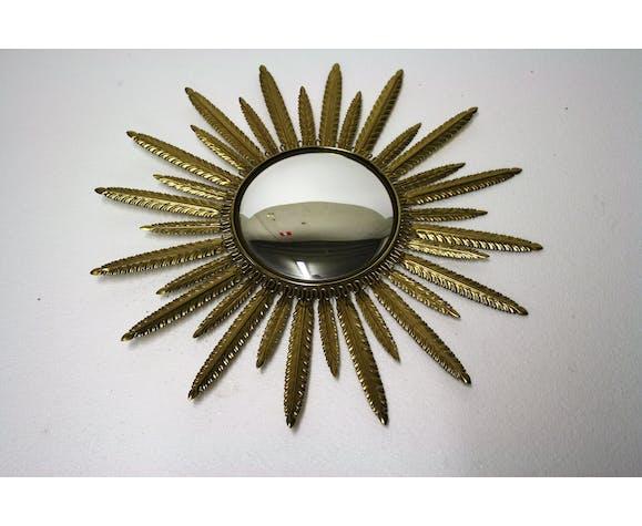 Miroir soleil en laiton années 60 57cm