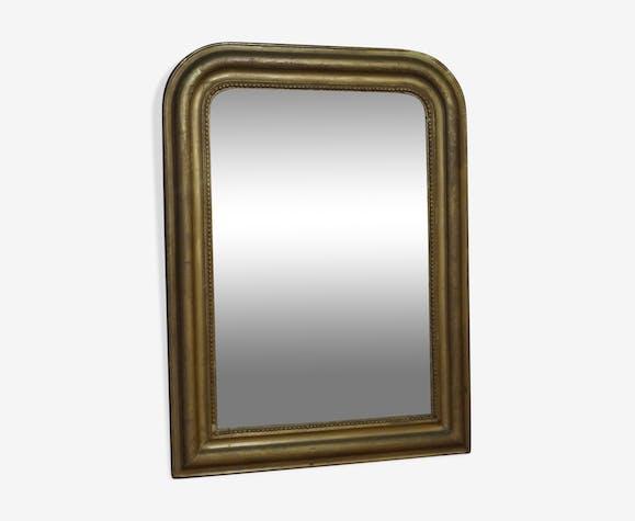 Miroir doré 85x63cm.