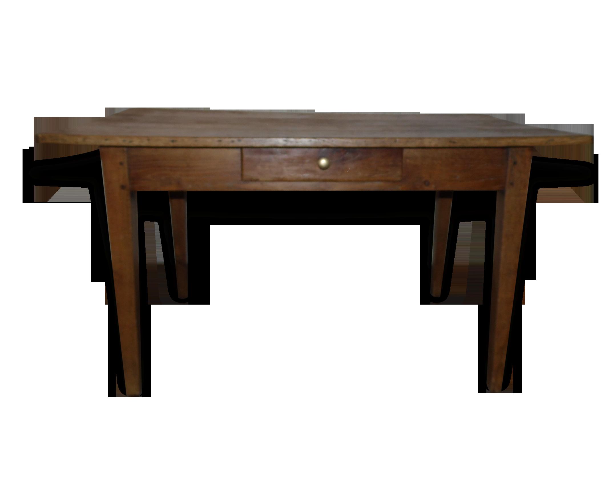 Jolie table bureau à tiroir années bois matériau bois