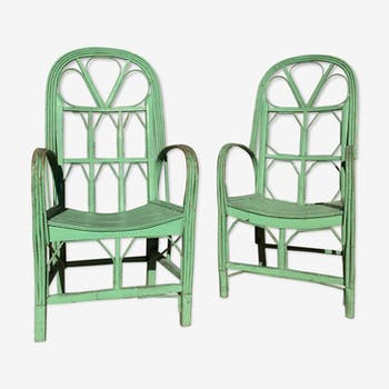 Pair of chairs green