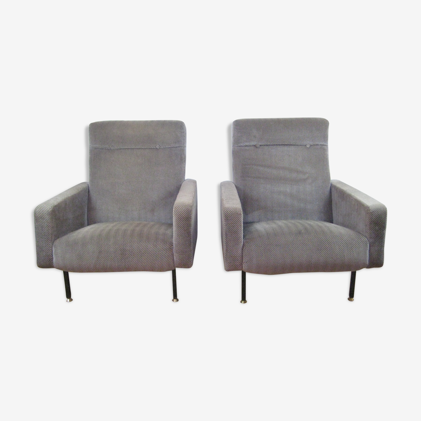 Paire de fauteuils Steiner vers 1960