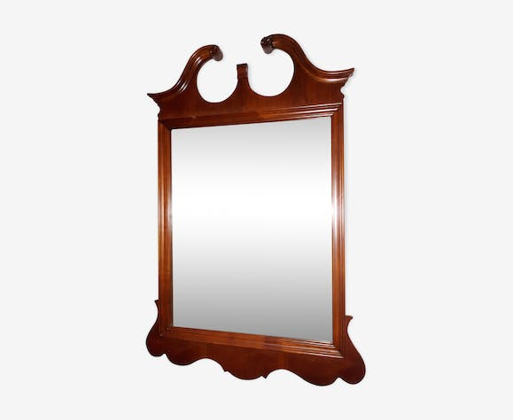 Large Chippendale mirror, old - solid wood 80x119cm