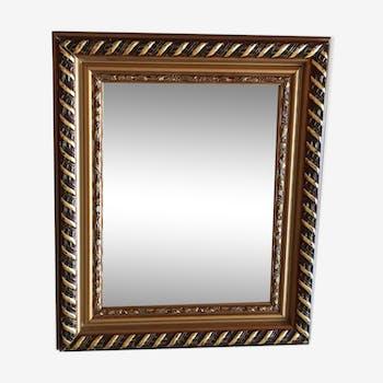 Miroir en bois doré 45 x 37 cm