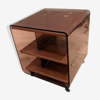 table en plexiglas vintage d 39 occasion. Black Bedroom Furniture Sets. Home Design Ideas