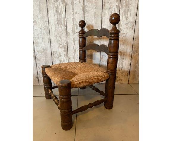 Chaise vintage en bois tourné, 1950