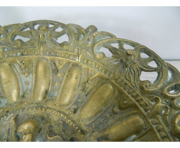 Ancient brass fruit tray