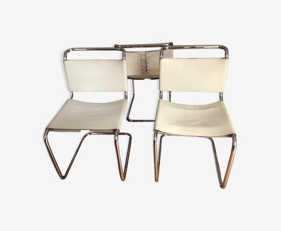Série de trois chaises B33 Breuer édition Gavina