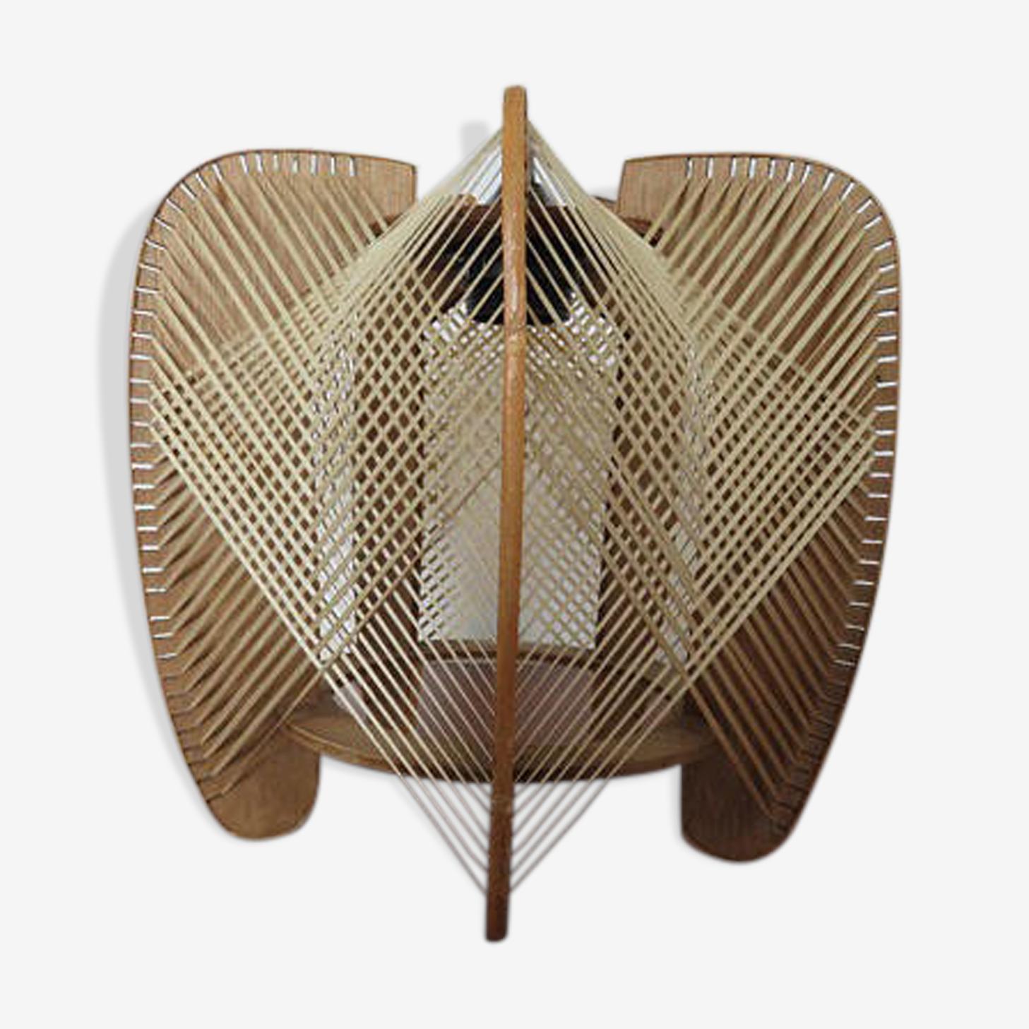 Suspension scandinave fil et bois années 50 60