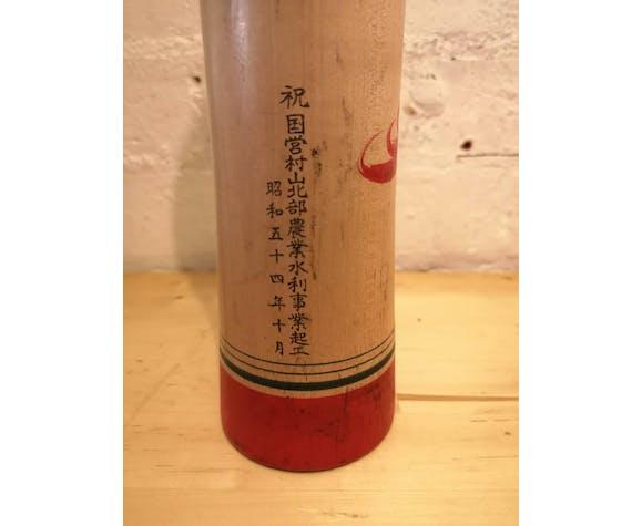 Poupée Kokeshi peinte à la main japonaise des années 1960