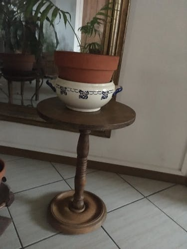 Guéridon table d'appoint en bois