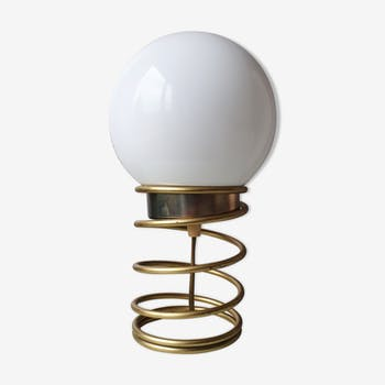 Seventies golden spiral lamp 1970