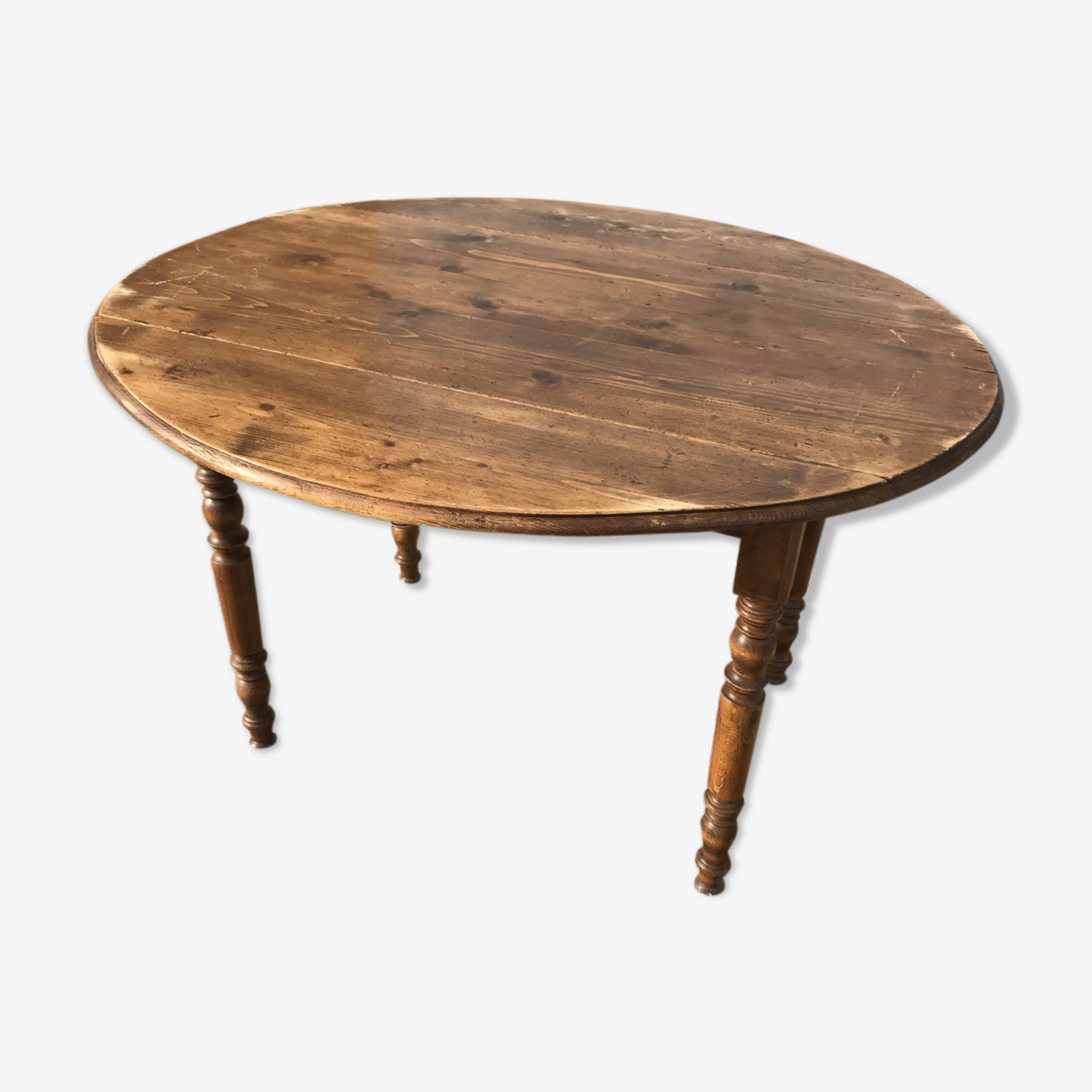Table ovale Louis Philippe à volets