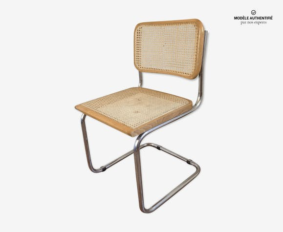 Chaise B32 par Marcel Breuer fer beige vintage 6UeVz6I