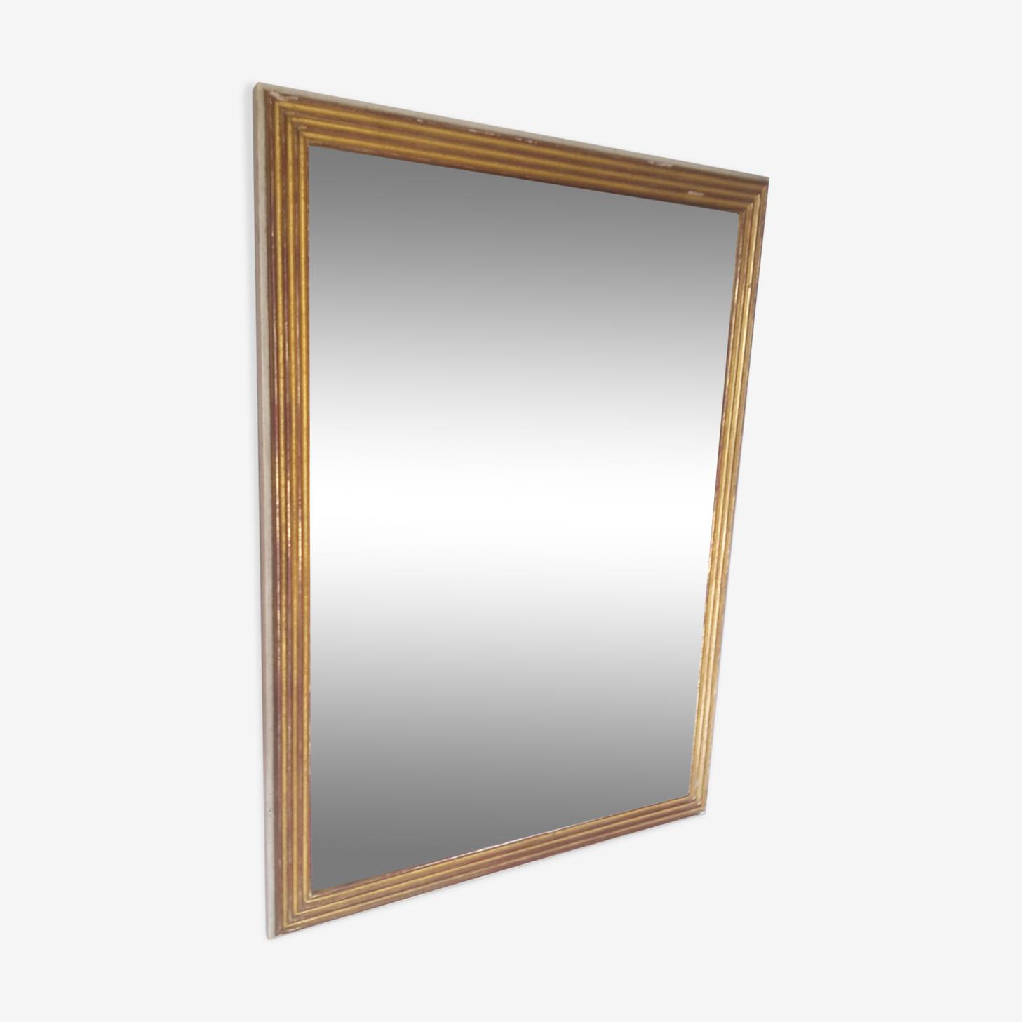Miroir patiné style Louis XVI 63x84cm