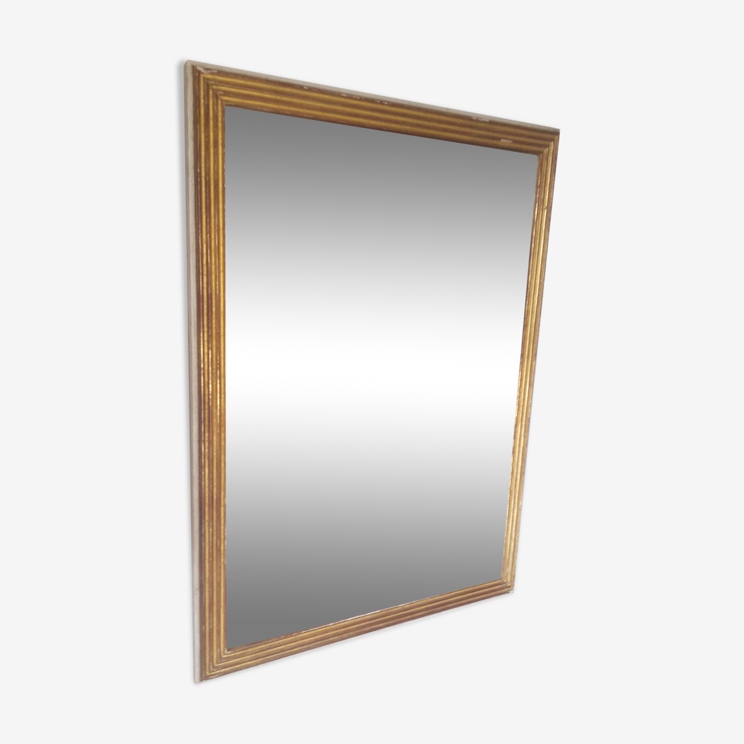 Patinated mirror in the Louis XVI style 63x84cm