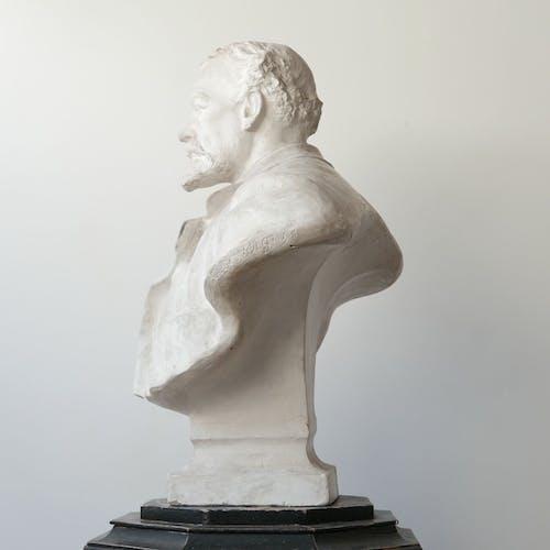 Buste en plâtre du 20ème siècle d'un gentlemen