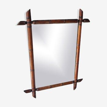 Bamboo mirror - 57x44cm